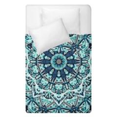 Green Blue Black Mandala  Psychedelic Pattern Duvet Cover Double Side (single Size) by Costasonlineshop