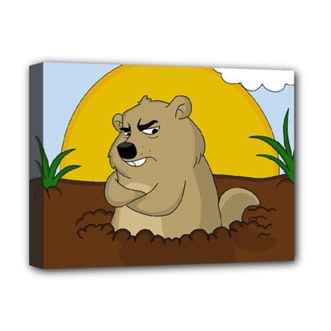 Groundhog Day Deluxe Canvas 16  X 12   by Valentinaart