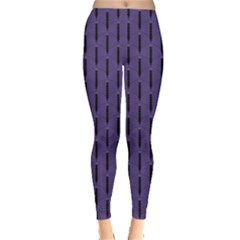 Color Of The Year 2018   Ultraviolet   Art Deco Black Edition Leggings  by tarastyle