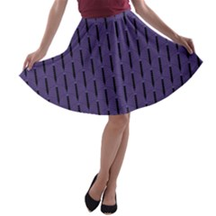 Color Of The Year 2018   Ultraviolet   Art Deco Black Edition A Line Skater Skirt
