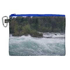 Sightseeing At Niagara Falls Canvas Cosmetic Bag (xl) by canvasngiftshop