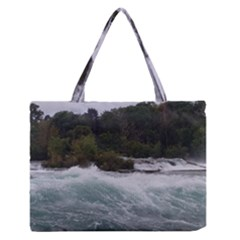 Sightseeing At Niagara Falls Zipper Medium Tote Bag