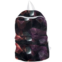 Crystals Background Design Luxury Foldable Lightweight Backpack by Onesevenart