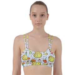 Colorful Doodle Soda Cartoon Set Line Them Up Sports Bra