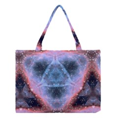 Sacred Geometry Mandelbrot Fractal Medium Tote Bag by Onesevenart