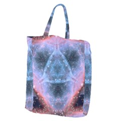 Sacred Geometry Mandelbrot Fractal Giant Grocery Zipper Tote by Onesevenart