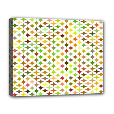Background Multicolored Star Deluxe Canvas 20  X 16   by Onesevenart