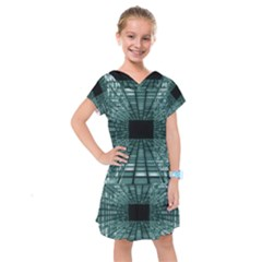 Abstract Perspective Background Kids  Drop Waist Dress