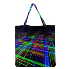 Electronics Board Computer Trace Grocery Tote Bag by Onesevenart