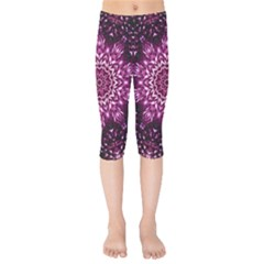 Background Abstract Texture Pattern Kids  Capri Leggings