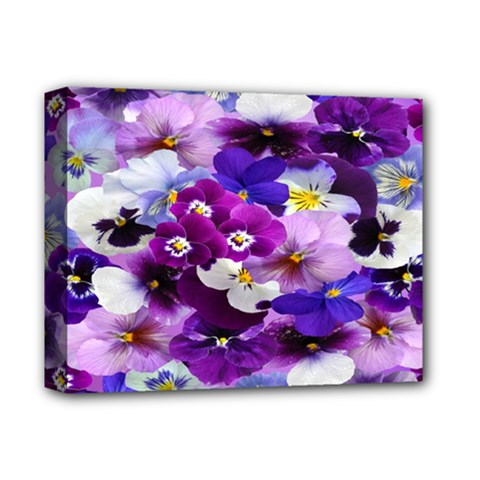 Graphic Background Pansy Easter Deluxe Canvas 14  X 11