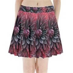 Flower Fractals Pattern Design Creative Pleated Mini Skirt by Onesevenart