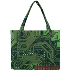 Board Computer Chip Data Processing Mini Tote Bag by Onesevenart