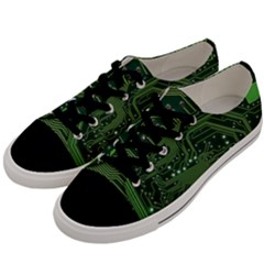 Board Computer Chip Data Processing Men s Low Top Canvas Sneakers by Onesevenart