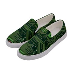 Board Computer Chip Data Processing Women s Canvas Slip Ons by Onesevenart