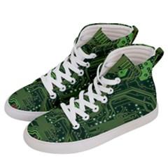 Board Computer Chip Data Processing Men s Hi Top Skate Sneakers by Onesevenart