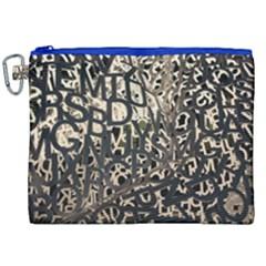 Pattern Design Texture Wallpaper Canvas Cosmetic Bag (xxl) by Onesevenart