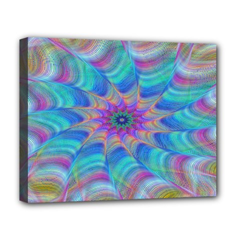 Fractal Curve Decor Twist Twirl Deluxe Canvas 20  X 16   by Onesevenart