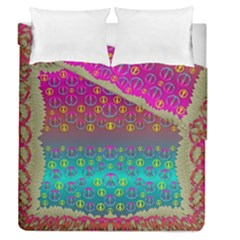 Years Of Peace Living In A Paradise Of Calm And Colors Duvet Cover Double Side (queen Size) by pepitasart