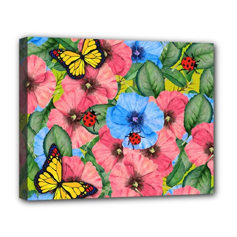 Floral Scene Deluxe Canvas 20  X 16   by linceazul