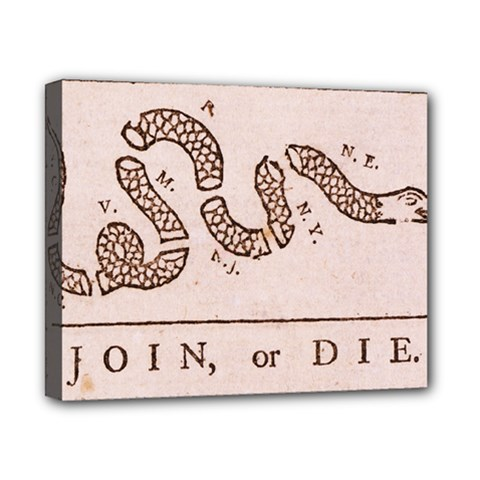Original Design, Join Or Die, Benjamin Franklin Political Cartoon Canvas 10  X 8  by thearts