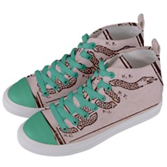 Original Design, Join Or Die, Benjamin Franklin Political Cartoon Women s Mid Top Canvas Sneakers by thearts