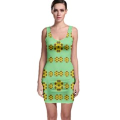 Sun Flowers For The Soul At Peace Bodycon Dress