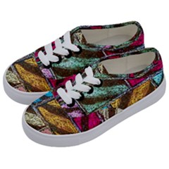 Colorful Painted Bricks Street Art Kits Art Kids  Classic Low Top Sneakers by Costasonlineshop