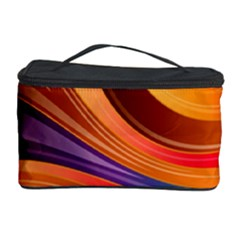 Abstract Colorful Background Wavy Cosmetic Storage Case by Nexatart