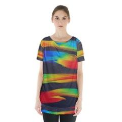 Colorful Background Skirt Hem Sports Top by Nexatart