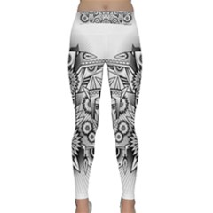 Forest Patrol Tribal Abstract Classic Yoga Leggings by Nexatart