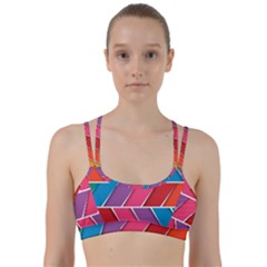 Abstract Background Colorful Line Them Up Sports Bra