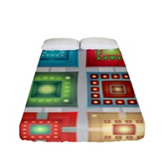 Tiles Pattern Background Colorful Fitted Sheet (full/ Double Size) by Nexatart
