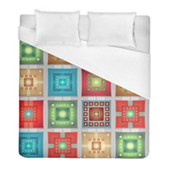 Tiles Pattern Background Colorful Duvet Cover (full/ Double Size) by Nexatart