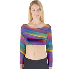 Colorful Background Long Sleeve Crop Top
