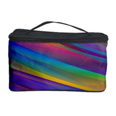 Colorful Background Cosmetic Storage Case by Nexatart