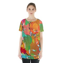 Background Colorful Abstract Skirt Hem Sports Top by Nexatart