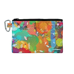 Background Colorful Abstract Canvas Cosmetic Bag (medium) by Nexatart