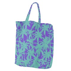 Electric Palm Tree Giant Grocery Zipper Tote by jumpercat