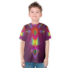 Abstract Bright Colorful Background Kids  Cotton Tee