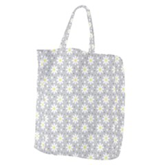 Daisy Dots Grey Giant Grocery Zipper Tote