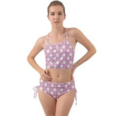 Daisy Dots Pink Mini Tank Bikini Set
