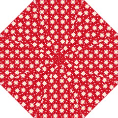 Daisy Dots Red Golf Umbrellas by snowwhitegirl