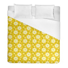 Daisy Dots Yellow Duvet Cover (full/ Double Size) by snowwhitegirl