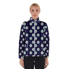 Daisy Dots Navy Blue Winterwear by snowwhitegirl