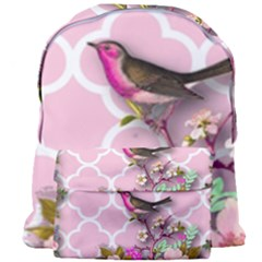Shabby Chic,floral,bird,pink,collage Giant Full Print Backpack by 8fugoso
