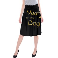 Year Of The Dog   Chinese New Year Midi Beach Skirt by Valentinaart