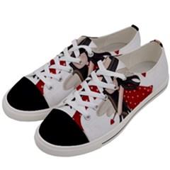 Cupid Girl Women s Low Top Canvas Sneakers by Valentinaart