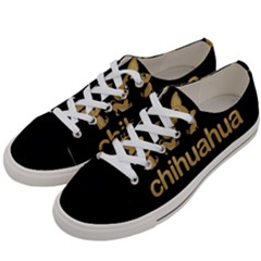 Chihuahua Women s Low Top Canvas Sneakers by Valentinaart