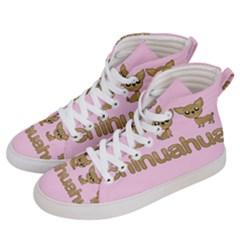 Chihuahua Women s Hi Top Skate Sneakers by Valentinaart